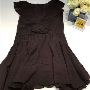 MANGO Brown short sleeve dress size 6 flare skirt